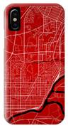Thunder Bay Street Map - Thunder Bay Canada Road Map Art On Colo IPhone Case