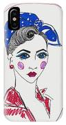 50's Fashion Girl IPhone Case