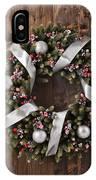 Advent Christmas Wreath Decoration IPhone Case
