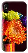 Multicolored Chrysanthemums In Paint Can IPhone Case