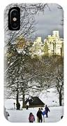 Snowboarding  In Central Park  2011 IPhone Case