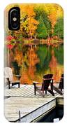 Wooden Dock On Autumn Lake IPhone Case