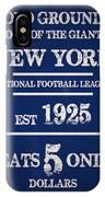 New York Giants IPhone Case