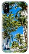 Downtown Miami Brickell Fisheye IPhone Case