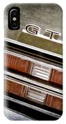 1969 Pontiac Gto Taillight Emblem -0475a IPhone Case