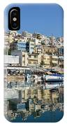 Reflections In Mikrolimano Port IPhone Case