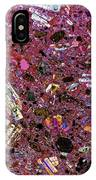 Rock Mineral Crystals, Polarised Lm IPhone Case