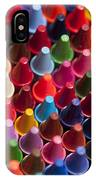 Rows Of Multicolored Crayons  IPhone Case