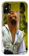 Yorkshire Terrier Art Canvas Print IPhone Case