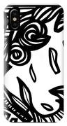 Sumler Angel Cherub Black And White IPhone Case