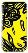 Dusseault Angel Cherub Yellow Black IPhone Case