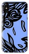 Bouthillette Angel Cherub Blue Black IPhone Case