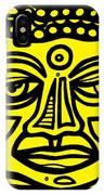 Jakubek Buddha Yellow Black IPhone Case