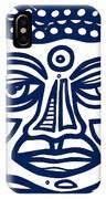 Trivane Buddha Blue White IPhone Case