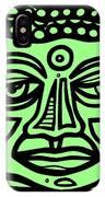 Cleark Buddha Green Black IPhone Case