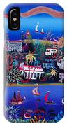 75th Anniversary Of Palm Beach, Florida Oil On Canvas IPhone Case