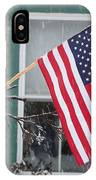 #762 D68 American Flag Winter IPhone Case