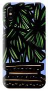 Kisiel Plant Leaves Green Black IPhone Case