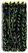 Allison Plant Leaves Blue Green IPhone Case