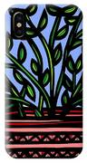 Sako Plant Leaves Red Green Blue IPhone Case
