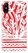 Kimbrell Plant Leaves Red White IPhone Case