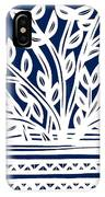 Stearne Plant Leaves Blue White IPhone Case