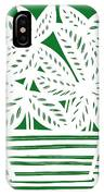 Stole Plant Leaves Green White IPhone Case