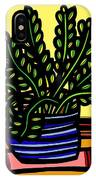 Rueck Plant Leaves Yellow Green Red IPhone Case