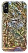 Plantation Allee Of Oaks IPhone Case