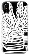Schwiebert Plant Leaves Black And White IPhone Case
