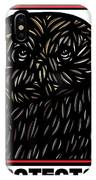 Pettry Owl Blue Brown White IPhone Case