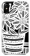 Imbue Flowers Black And White IPhone Case