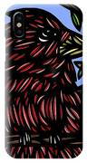 Batra Bird Brown Black Green Blue IPhone Case