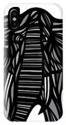 Batra Elephant Grey Black White IPhone Case