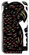 Zeccardi Parrot Brown Green Black IPhone Case