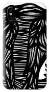 Cubr Elephant Black And White IPhone Case