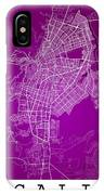 Cali Street Map - Cali Colombia Road Map Art On Colored Back IPhone Case