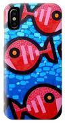 9 Happy Fish IPhone Case