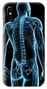Human Spine IPhone Case