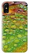 Raindrops On Lily Leaf IPhone Case