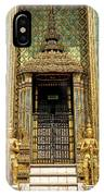 Temple In Grand Palace Bangkok Thailand IPhone Case