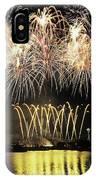 Wa, Seattle, Fireworks On July 4th IPhone Case