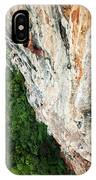 A Athletic Man Rock Climbing High IPhone Case