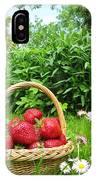 A Basket Of Strawberries IPhone Case