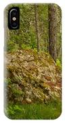 A Boulder In The Rainforest IPhone Case
