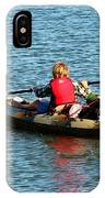 A Boy And His Canoe IPhone Case
