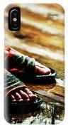 A Boys Wet Feet In Sandals IPhone Case