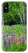 A Breathless Moment Among Lupine IPhone Case