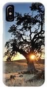 A Bright Orange Sun Peaking IPhone Case