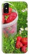 A Bucket Of Strawberries IPhone Case